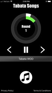 Tabata Songs App Home Screen 2